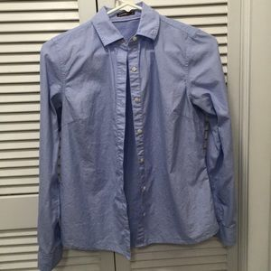 Blue Ladies Button Up J. McLaughlin Shirt